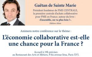 Gaëtan de Sainte Marie Economie Collaborative Conférence Chance pour la France